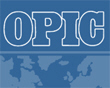 Overseas Private Investment Corporation (OPIC) logo with a hyperlink to the OPIC website