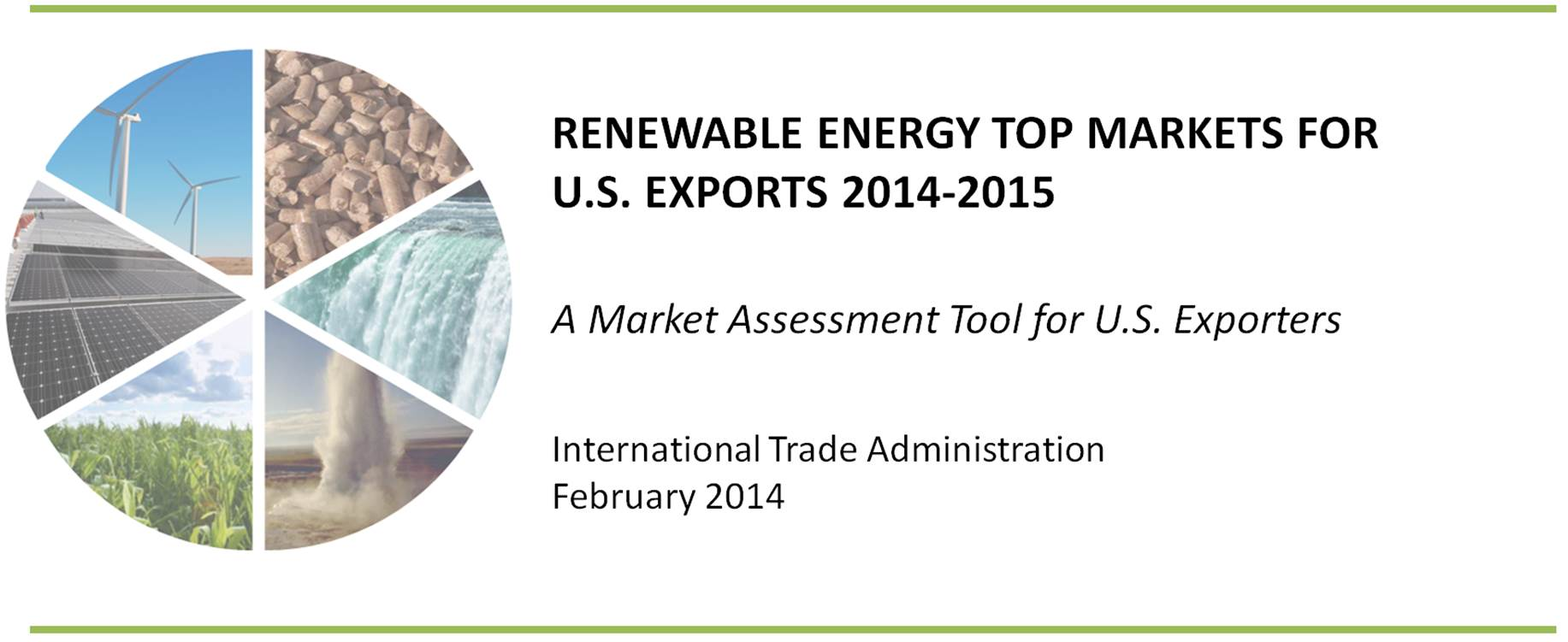 Renewable Energy Top Markets For U.S. Exports 2014-2015