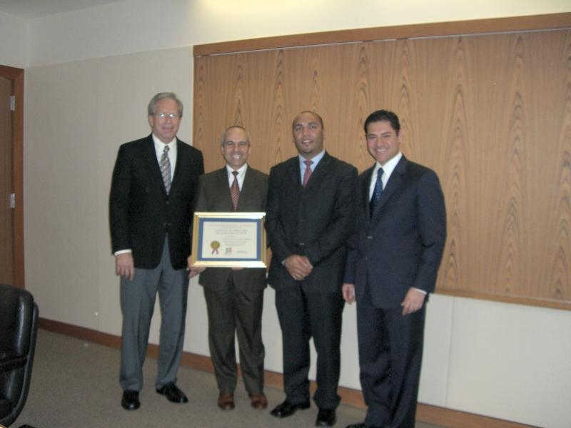 Photo of Dr. Daniel Blake, Dr. Rafi Efrat, Rachid Sayouty, and Israel Hernandez.