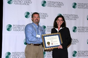 Colleen Litkenhaus presented the Export Achievement Award to Liebendorfer of Stellar