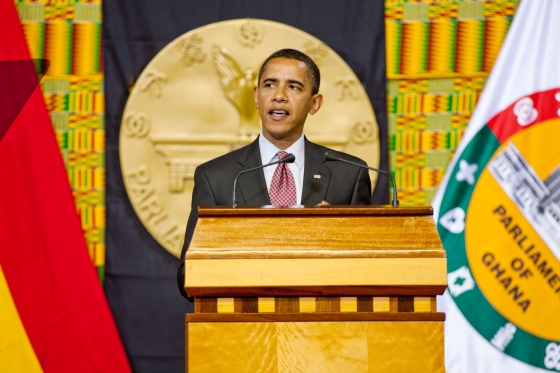 President Obama speaking in Ghana