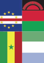 Flags of the Four Featured African Countries