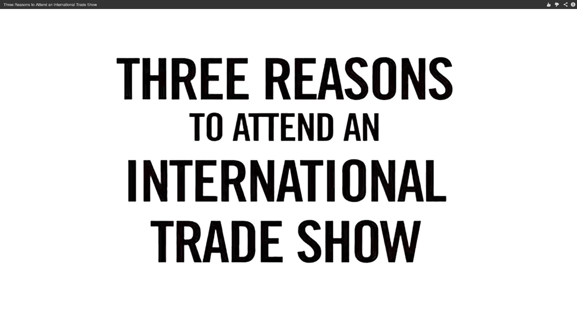 3 Reasons to Attend an International Trade Show