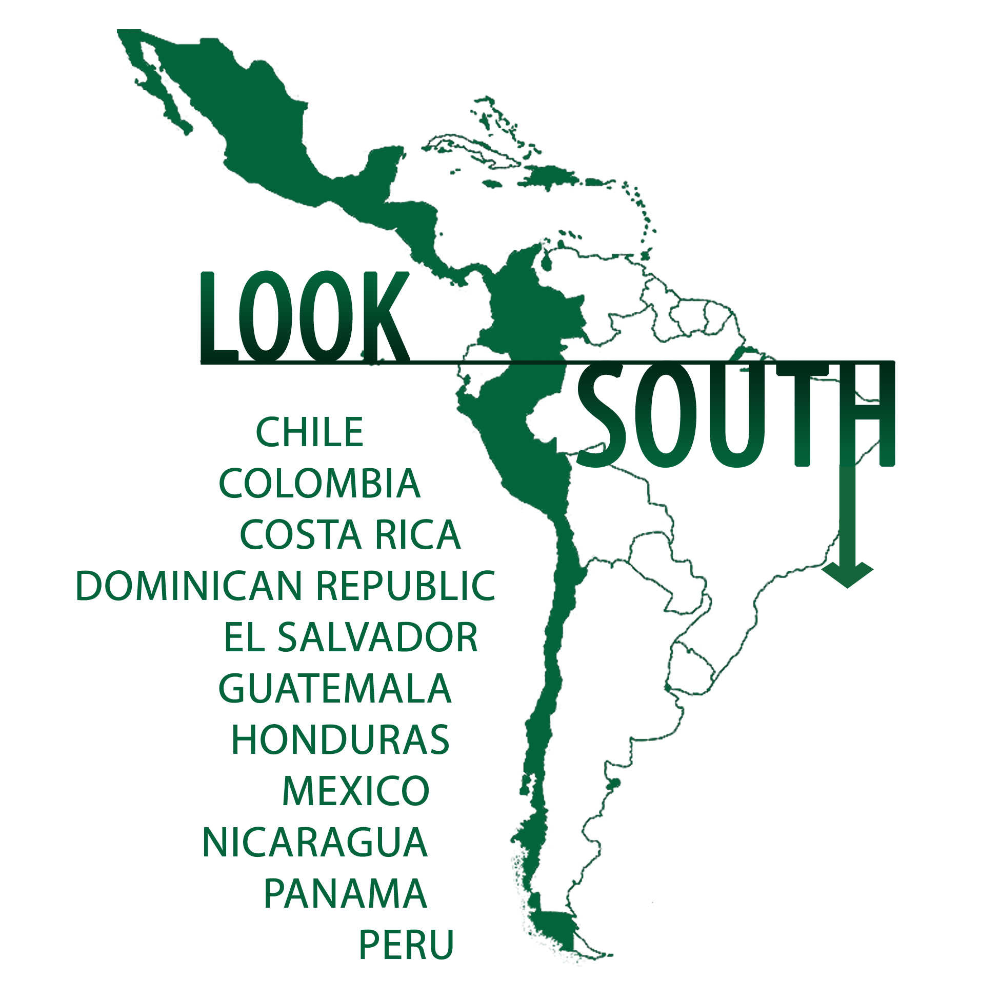 Export welcome to peru look south logo platinumwayz